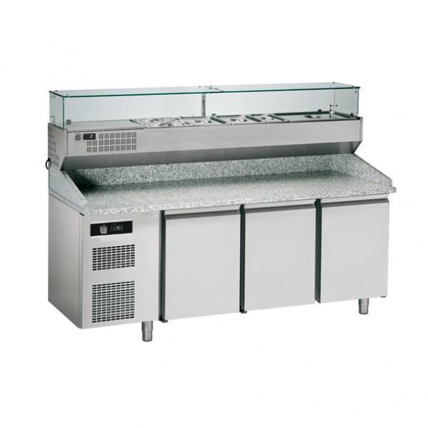 Хладилна маса за подготовка на пица с две врати  Sagi  - KBPZ203S