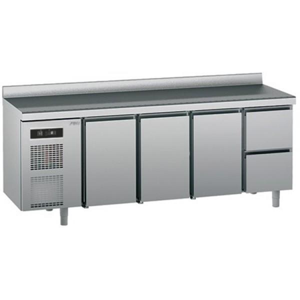 Refrigerated counter-GN1/1-antifingerprint-Twin - Sagi -KUEC2A
