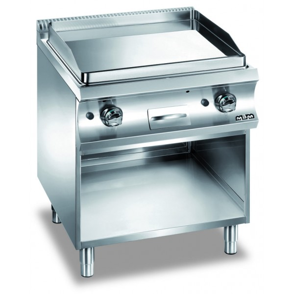 CHROMED SMOOTH PLATE GAS ON OPEN STAND   - MBM - GFTA777LC