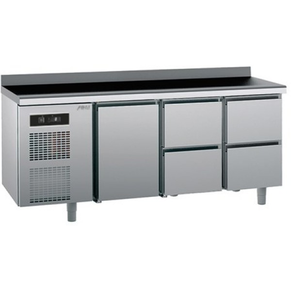 Refrigerated counter-GN1/1-antifingerprint-Twin - Sagi -KUEB4A