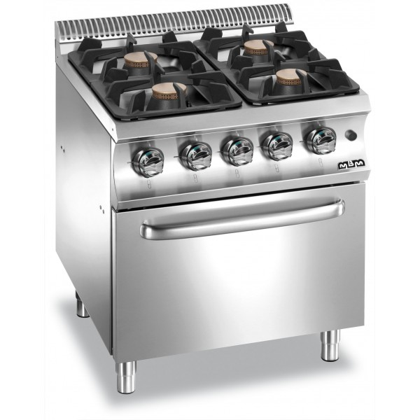 4 BURNERS ON ELECTRIC OVEN - MBM