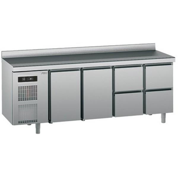 Хладилна шкаф-маса  Sagi  с 2 врати и 4 чекмеджета, среднотемпературна -GN1/1 - KUEC4A