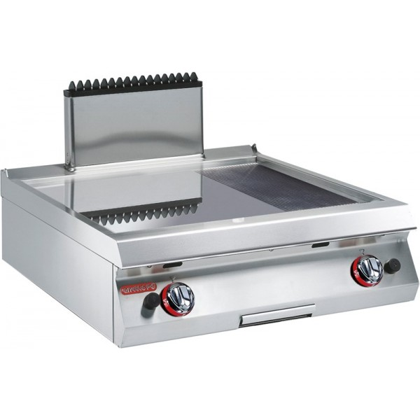 GAS GRIDDLE SMOOTH/RIBBED CHROMIUM PLATE - Angelo Po - 1G0FT6G