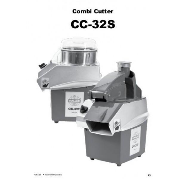 Комбиниран уред кутер-зеленчукорезачка, HALLDE,  без дискове за рязане - CC 32 S