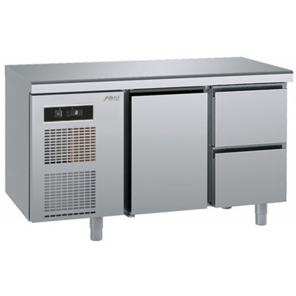 Refrigerated counter-GN1/1-antifingerprint-Twin - Sagi - KUEA2M