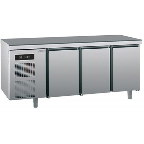 Refrigerated counter-GN1/1-antifingerprint-Twin - Sagi - KUEBM