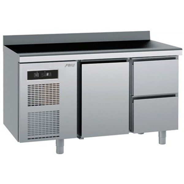 Refrigerated counter-GN1/1-antifingerprint-Twin - Sagi -KUEA2A