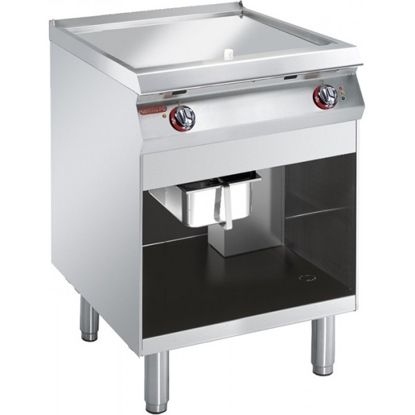 ELECTRIC GRIDDLE SMOOTH CHROMIUM PLATE ON CABINET -  Angelo Po -1G1FT4E