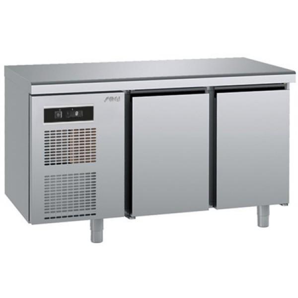 Refrigerated counter-GN1/1-antifingerprint-Twin - Sagi - KUEAM