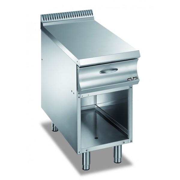 Стойка за уреди 40 см. с долен плот тип шкаф без врати, с чекмедже-NA477C, MBM