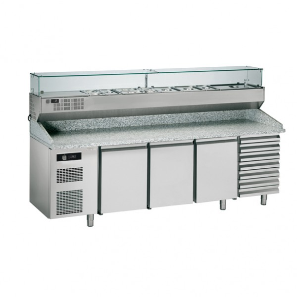 Хладилна маса за подготовка на пица с три врати  Sagi  - KBPZ253A